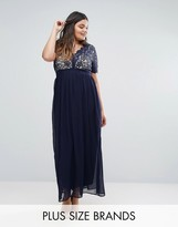 Club L Plus Maxi With Scallop Lace Top