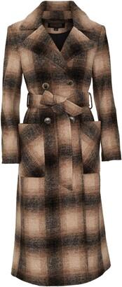 Pendleton Aurora Plaid Wool Blend Wrap Coat
