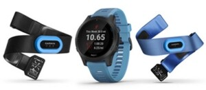 Garmin Unisex Forerunner 945 Blue Silicone Strap Touchscreen Smart Watch 47mm Gift Set