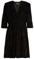 Vivienne Westwood Harima tribal-devoré crepe dress