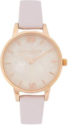 Olivia Burton Demi Rose Quartz And Rose Gold-plated Watch