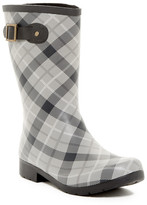 Chooka Eastlake Mid Waterproof Pebble Plaid Rain Boot