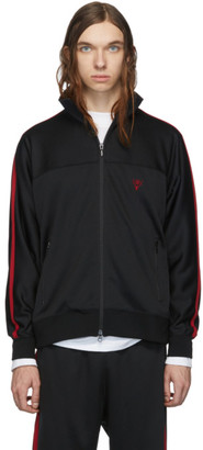 South2 West8 Black Smooth Trainer Zip-Up Sweater