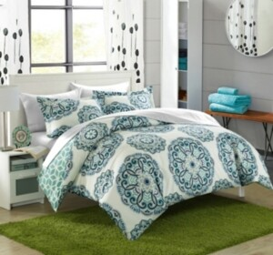 Chic Home Ibiza 7 Piece King Bed In a Bag Duvet Set Bedding