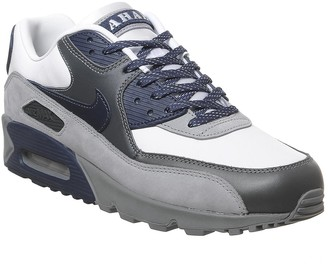 Nike 90 Trainers White Neutral Indigo Smoke Grey Neutral Grey