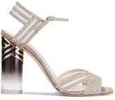 Nicholas Kirkwood Zaha 105 Mesh-trimmed Lurex Sandals