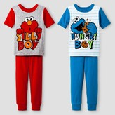 Sesame Street Toddler Boys' 4-Piece Pajama Set - Red