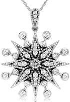 Diamante 4/9 CT Diamond 14K Gold Starburst Necklace by Royal Jewelry