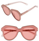 Karen Walker Women's 'One Astronaut - Arrowed By Karen' 49Mm Sunglasses - Crystal Pink/ Rose Pink