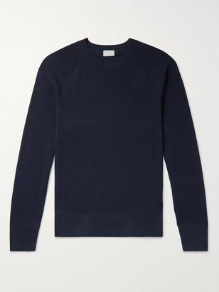HANDVAERK Waffle-Knit Pima Cotton Pyjama Top