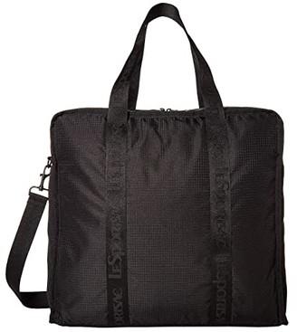 Le Sport Sac Gabrielle Box Tote (Black Luxe) Handbags