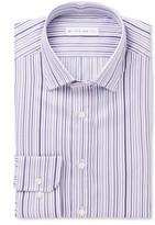 Etro - Purple Slim-fit Striped Cotton Shirt