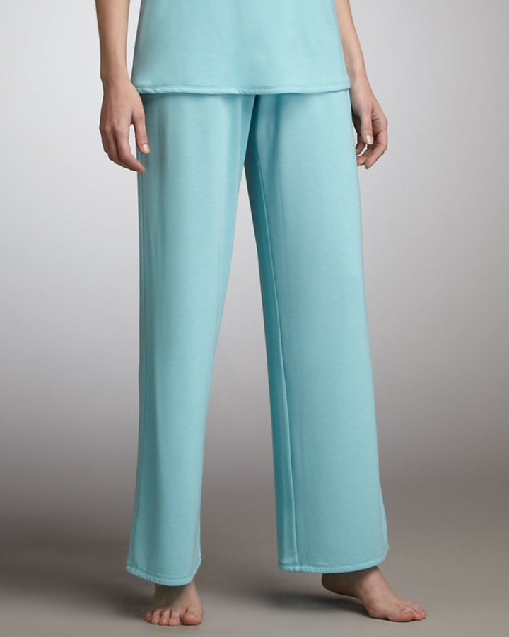 Natori Jersey Wide-Leg Pants