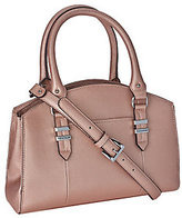 Tignanello Saffiano Leather Triple Compartment Domed Satchel
