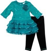 Youngland Toddler Girl Ruffle Tutu Top & Leggings Set