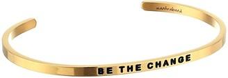 MantraBand Be The Change Cuff (Yellow Gold) Bracelet