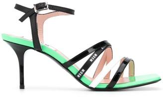 MSGM Multi-Strap Tri-Colour Sandals