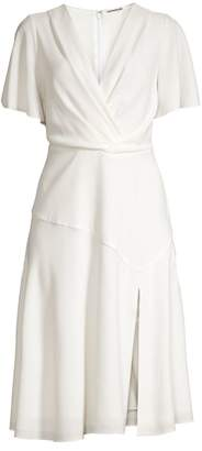 Elie Tahari Jila Front-Slit Crepe Dress