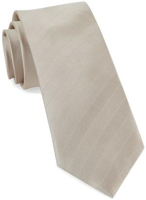 Tie Bar Herringbone Vow Light Champagne Tie