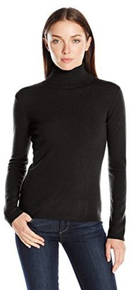 Lark & Ro Amazon Brand Women's 100% Cashmere Soft Slim Fit Basic Turtleneck Sweater