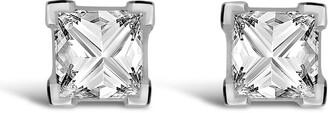 Pragnell 18kt white gold RockChic diamond solitaire earrings
