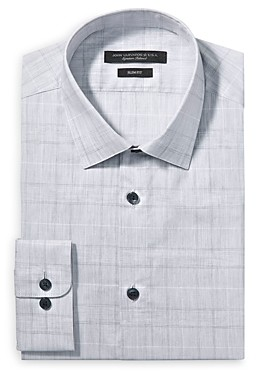 John Varvatos Tonal Plaid Slim Fit Dress Shirt
