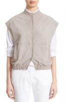 Eleventy Women's Suede Zip Front Sleeveless Jacket