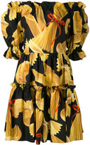 Dolce & Gabbana print off-shoulder dress - women - Cotton - 38