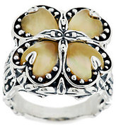 Mother of Pearl Carolyn Pollack Sterling Golden Mother-of-Pearl Doublet Ring