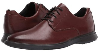 Clarks Un Lipari Park (Black Leather) Men's Shoes