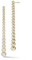 Mizuki 14K Linear Diamond Drop Earrings