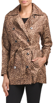 Leopard Dot Trench With Belt