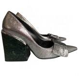 Marni Silver Leather Heels