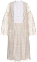 Giles Bell-sleeved macramé-lace dress