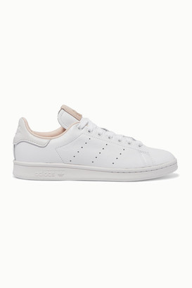 adidas Stan Smith Suede-trimmed Leather Sneakers - White