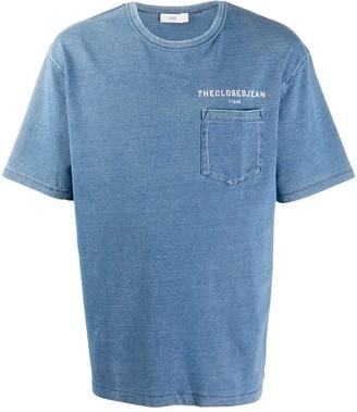 Closed Chambray Cotton T-Shirt