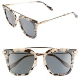Sonix Women's Parker 50Mm Sunglasses - Milk Tortoise/ Black Solid
