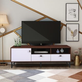 Overstock TV Media Stand With Metal Legs - 59""