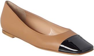 Gianvito Rossi Leather & Patent Flat