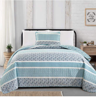 Great Bay Home Kadi Collection Striped 2-Piece Quilt Set, Twin