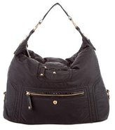 Tod's Leather-Trimmed Woven Hobo