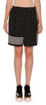 Stella McCartney Polka-Dot Striped-Trim Shorts, Black