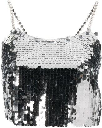 Amen Sequin-Embellished Cropped Top