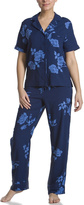 Jones New York Blue Flower Pajamas