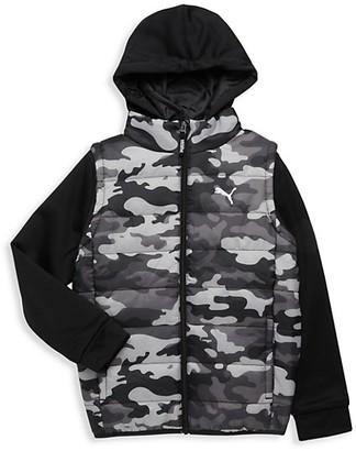 Puma Boy's Camo Vest Jacket