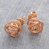 Otis Jaxon Silver Jewellery Rose Gold Nest Stud Earrings