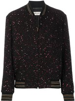 Saint Laurent sequinned bomber jacket