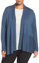Eileen Fisher Fine Stitch Shaped Merino Cardigan (Plus Size)