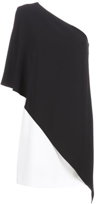 Givenchy Contrasting Panelled One-Shoulder Mini Dress