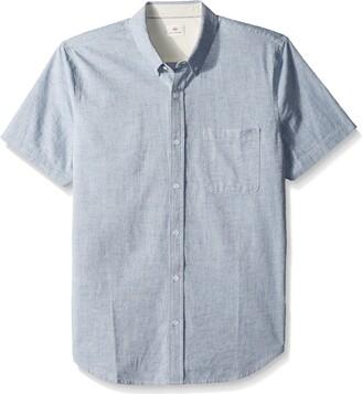 AG Jeans Men's Nash S/s Shirt in Sailor Blue NEP Large